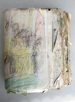 Purvis Young, Untitled Textbook circa 1990