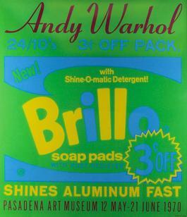 Andy Warhol, Brillo, Pasadena Art Museum, Serigraph, 1970