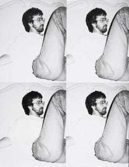 Steven Spielberg, 4 Silver Gelatin Prints Stitched with Thread