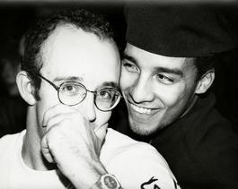 Andy Warhol, Photograph of Keith Haring with Juan Rivera, 1986