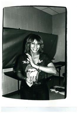 Tina Turner (back stage at Rolling Stones concert)