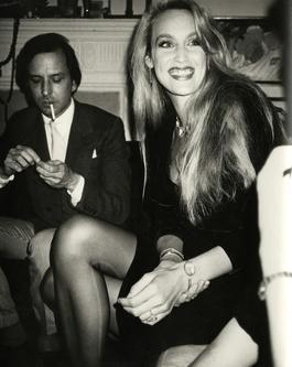 Jerry Hall with Fred Hughes