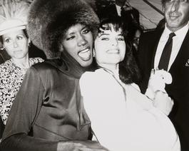 Andy Warhol, Photograph of Grace Jones & Maria Shriver Schwarzenegger, 1986