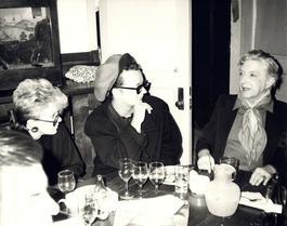 Andy Warhol, Photo of Judith Krantz, Boy George and Quentin Crisp circa 1986