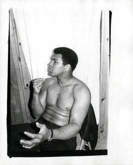 Andy Warhol, Photograph of Muhammad Ali, 1977