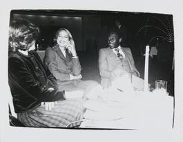 Andy Warhol, Photograph of Jerry Hall and Pele, 1980