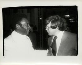 Andy Warhol, Photograph of Pele and Richard Weisman, 1977