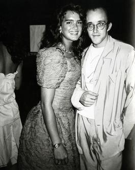Brooke Shields and Keith Haring