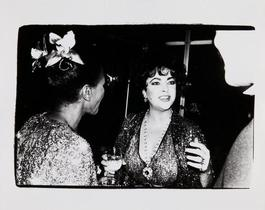 Andy Warhol, Photograph of Elizabeth Taylor with an Unidentified Couple, 1981
