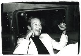 Andy Warhol, Photograph of Halston in a Limo circa 1979