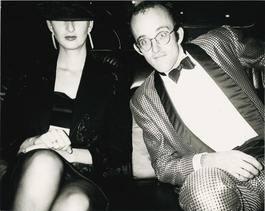 Andy Warhol, Photograph of Keith Haring and Julia Gruen, 1986
