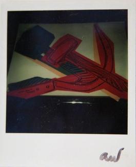 Andy Warhol, Hammer and Sickle Painting Detail, Polaroid Photograph, 1977