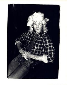 Andy Warhol, Photograph of an Unidentified Man Wearing a Wig circa 1980