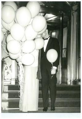Couple with Balloons at The Plaza Hotel, New York City