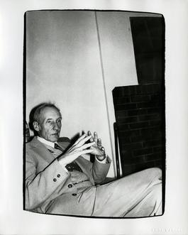 Andy Warhol, Photograph of William S. Burroughs at the Chelsea Hotel, 1975