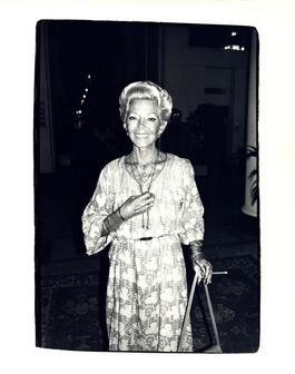 Andy Warhol, Photograph of Lana Turner circa 1981
