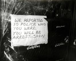 Andy Warhol, Photograph of a Funny Sign (We Reported You to the Police...), 1981