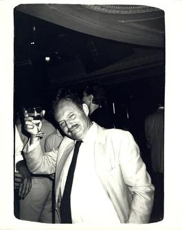 Andy Warhol, Photograph of Lester Persky circa 1983