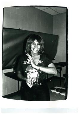 Andy Warhol, Photograph of Tina Turner (backstage at a Rolling Stones concert), 1981