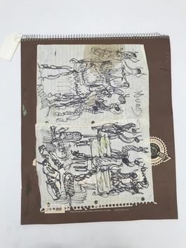 Purvis Young, Untitled Sketchbook circa 1990