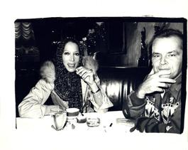 Andy Warhol, Photograph of Maria Schiano and Jack Nicholson circa 1978