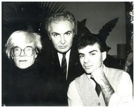 Andy Warhol, Photograph with Tony Shafrazi and Ronnie Cutrone circa 1986
