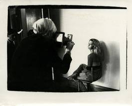 Andy Warhol, Photograph with Farrah Fawcett Majors at The Factory, 1979