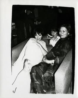 Andy Warhol, Photograph of Liza Minelli, Elizabeth Taylor & Faye Dunaway, 1985