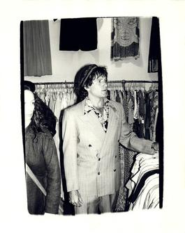 Andy Warhol, Photograph of Robin Williams at a Thrift Store in the Village, 1979