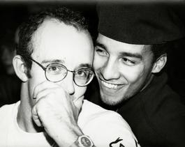Keith Haring with Juan Rivera