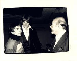 Andy Warhol, Photograph of Rudolf Nureyev, Bruce Jenner, and Ahmet Ertegen circa 1982