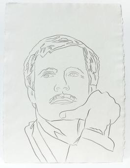 Andy Warhol, Graphite Work on Paper of Ted Turner