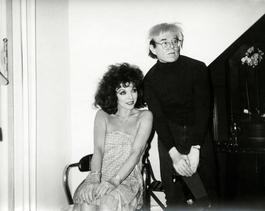 Andy Warhol, Photograph with Joan Collins, 1985