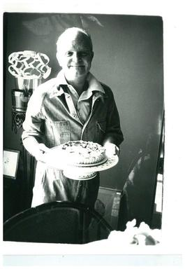 "Truman Capote (with the birthday cake ""he made"")"