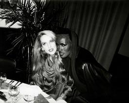 Andy Warhol, Photograph of Jerry Hall & Grace Jones, 1985