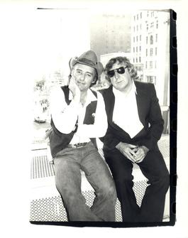 Andy Warhol, Photograph of Dennis Hopper and Gerry Rothenberg, 1977