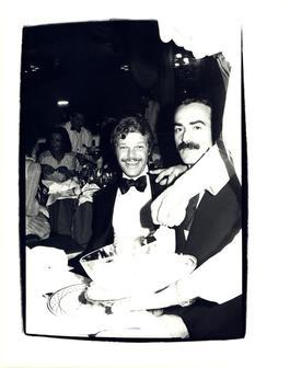 Andy Warhol, Photograph of Egon von Furstenberg and Victor Hugo circa 1980