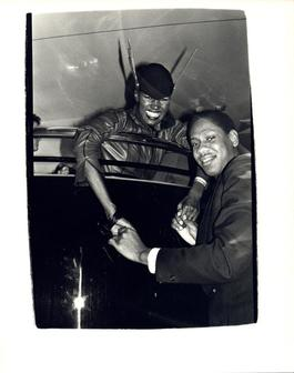 Andy Warhol, Photo of Grace Jones and Andre Leon Talley at Studio 54 circa 1980