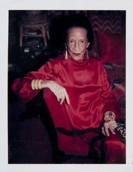 Andy Warhol, Polaroid Photograph of Diana Vreeland, 1983