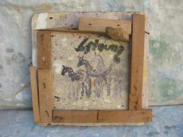Purvis Young, Small Horses, Painting on Plywood