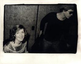 Andy Warhol, Photograph of Catherine Guinness and Lou Reed circa 1977