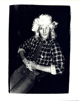 Andy Warhol, Photograph of Thomas Ammann Wearing a Wig circa 1980