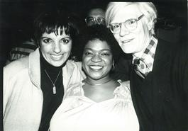 Andy Warhol, Photograph with Liza Minnelli and Nell Carter circa 1979