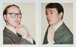 Andy Warhol Polaroids, Gilbert and George Diptych, 1975