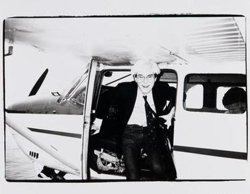 Andy Warhol on a Seaplane in Montauk