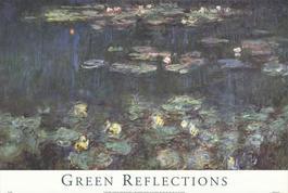 Waterlilies: Green Reflections III