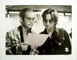Elton John and John Lennon At Record Plant New York