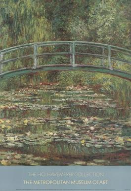 Bridge Over a Pool of Water Lilies