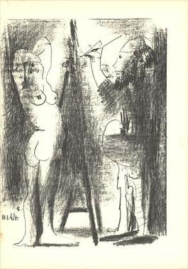 Le Peintre et son modele (Lg)