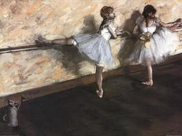 Dancers Practicing at the Barre